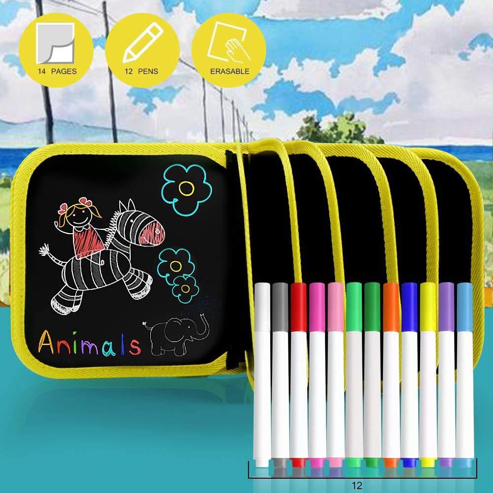 KUANSHENG Erasable Drawing Pad Toys(Bear), Kids Drawing Pad,Portable Kids Drawing Pad Sided Reuse PP Portable Writing Board for Kids Toddlers Boys Girls Gift Age 2 3 4 5 6 7 8 Year Old