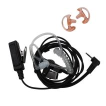 AOER 3' 2-Wire Coil Earbud Audio Mic Surveillance Kit for Motorola Two-Way Radio Single Pin Talkabout