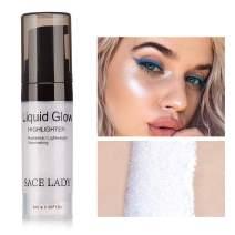 SACE LADY Shimmer Pearl Liquid Highlighter Makeup Ultra-Smooth Radiant Illuminator Face Cheekbones Glow Makeup, 6ml/0.20Fl Oz (01.Sliver)