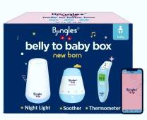 Bjingles Premium Baby Bundle (Digital Infrared Forehead & Ear Thermometer, Baby Soother & Night Light).Enjoy Fun Baby Tools on Bjingles App. Thermometer use for Baby, Kids & Adults. Enjoy Newborn Box!