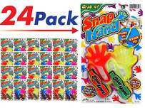 JA-RU Sticky Hands Stretchy Snap Smak Toys (24 Packs) Great Sticky Hand Party Favors Birthday Toy Supplies for Kids, Pinata Filler, Bulk Toys, Stocking Stuffers, Goody Bags. Prank Gag. 315-24p