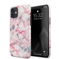 BURGA Phone Case Compatible with iPhone 11 - Raspberry Jam Pink Candy Marble Cute Case for Girls Thin Design Durable Hard Plastic Protective Case