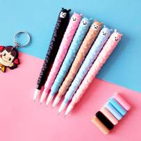 WIN-MARKET Animal Colourful llama Alpaca Sheep Gel Ink Pen Cute Kawaii Black Writing Pens Ballpoint Black Ink Gel Pen Party Gift Gel Ink Pens Funny School Stationery Office Supplies(6PCS)