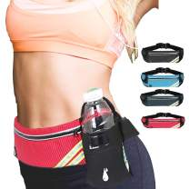 Unova Running Belt Reflective Runner Waist Pack Adjustable Fanny Pack Earphone Port Cycling Outdoor Sports Marathon for Phone (up to 6.5in iPhone Xs Max 6.4in Galaxy Note 9) Key