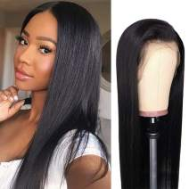 Lace Front Wigs Human Hair with Baby Hair Remy Brazilian Straight Lace Wigs for Women 13×4 Human Hair Lace Frontal Wig Pre Plucked Natural Color(14inch)