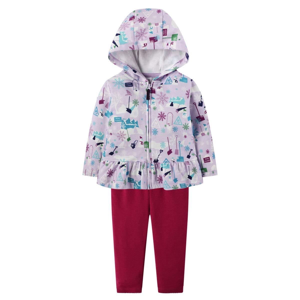 Baby Girl Clothes Set Fleece Jacket Hoodie Sweatshirt Cotton Pants Winter Outfit