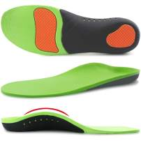 Ailaka Orthotic Cushion Arch Support Shoe Insoles for Men & Women, Unisex Daily Shock Absorption Gel Sports Inserts for Flat Feet, Plantar Fasciitis, Heel Pain Relief