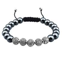 HAWSON 8mm Adjustable Beads Bracelet for Men and Women with Natural Handmade Stone Beads