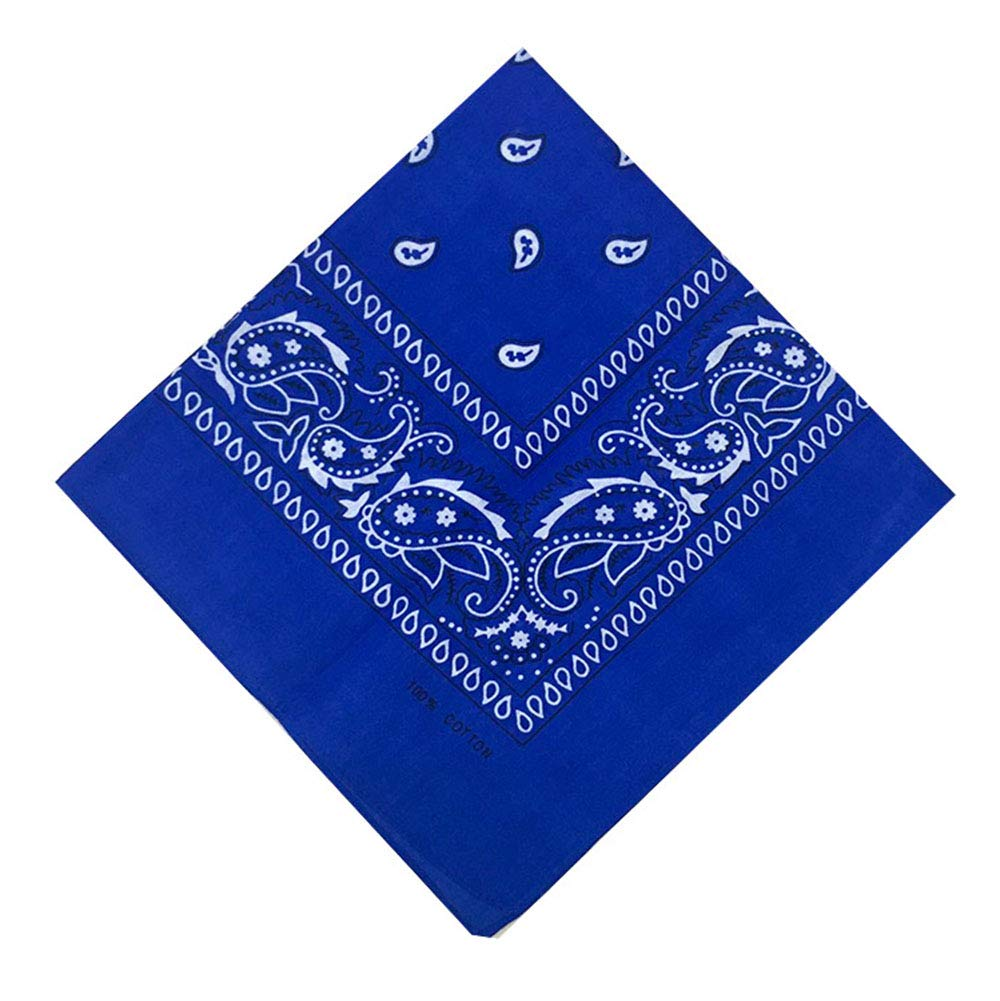 100% Cotton 3 Pcs Double Sided Print Paisley Cowboy Head Wrap, Scarf Multi-Purpose Bandana for Men & Women 22 x 22 inches