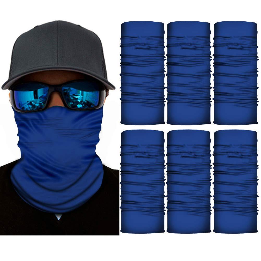 6 PCS Seamless Face Shield Bandanas for Women Men for Dust, Outdoors, Festivals, Sports