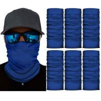 6 PCS Seamless Face Shield Bandanas for Women Men for Dust, Outdoors, Festivals, Sports