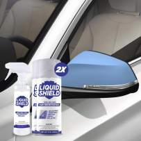 Liquid Shield - Sprayable Paint Protection Film (PPF) - Clear Vinyl Wrap - Protects Car Paint, Wheels and Accessories - Mirror Kit or Grill Kit (Incl. 2X Spray Can 11 Ounces & Preparation Spray)