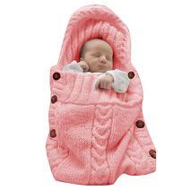 XMWEALTHY Newborn Baby Wrap Swaddle Blanket Knit Sleeping Bag Sleep Sack Stroller Wrap for Baby(Light Pink) (0-6 Month)