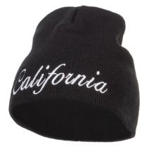 e4Hats.com California Embroidered Short Beanie