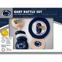 MasterPieces NCAA Real Wood Baby Rattles, 2-Pack