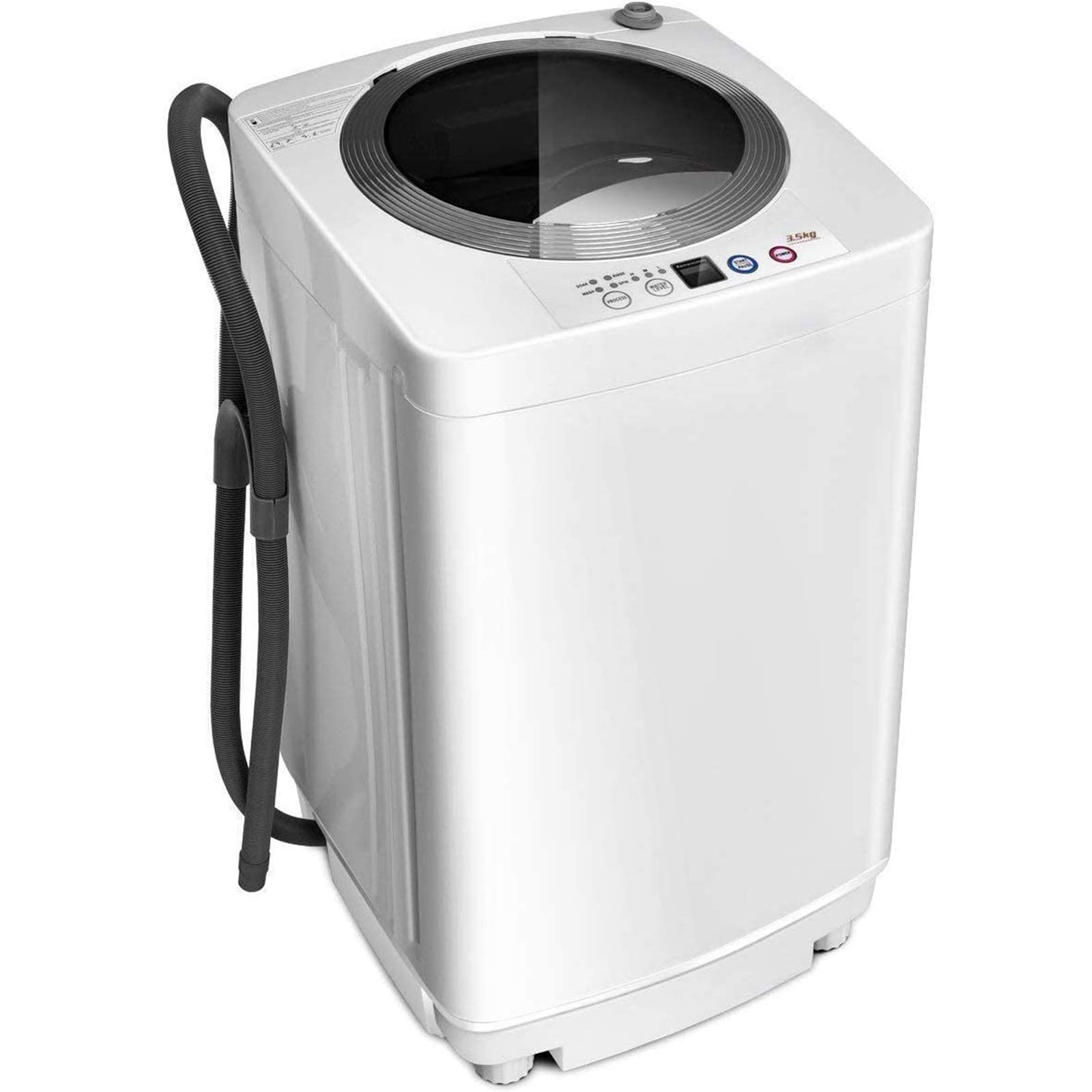 ARLIME Portable Compact Full-Automatic Washing Machine Laundry 8 lbs Load Capacity Washing Machine Washer/Spinner With Drain Pump