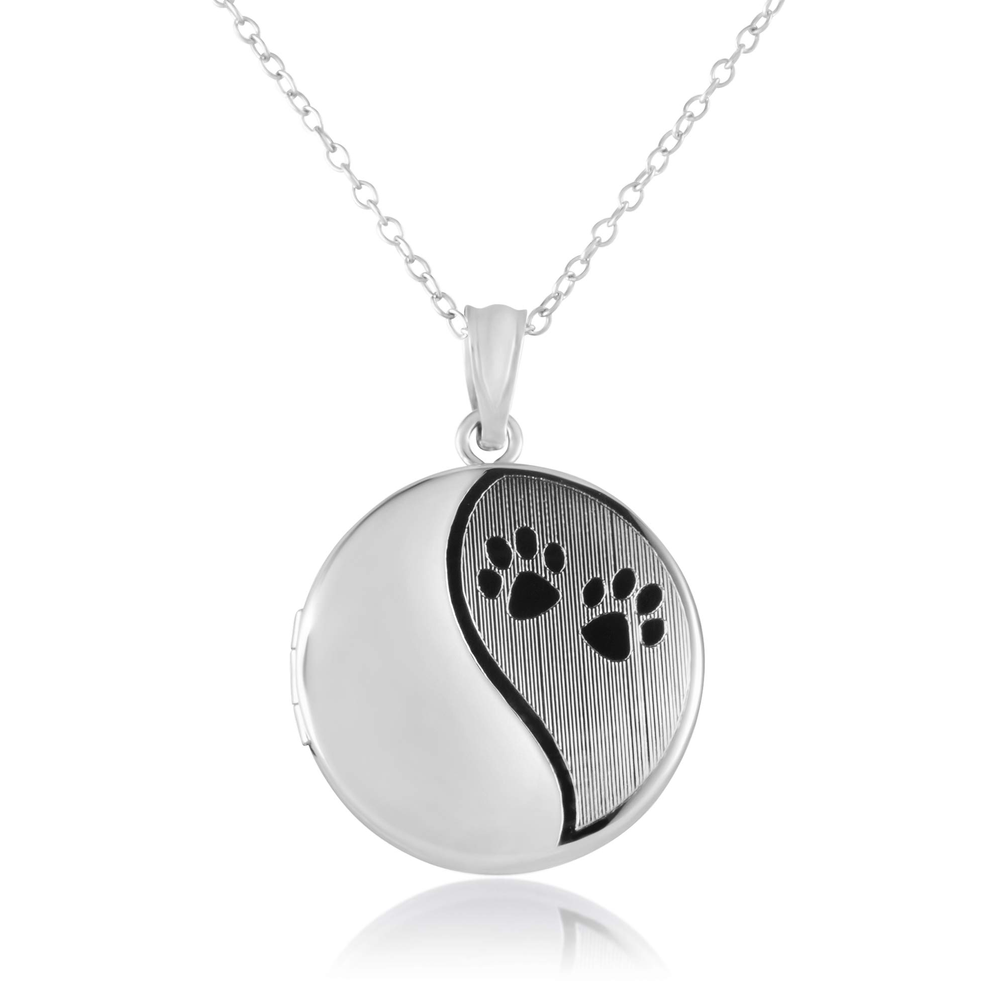 Sterling Silver Cremation/Keepsake Fashion Locket Pendant for Women, with Chain – In Various Sizes and Inspirational Designs