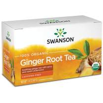Swanson 100% Certified Organic Ginger Root Tea 20 Bag(S)