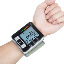 Blood Pressure Monitor, Automatic Blood Pressure Cuff Wrist - Large Screen - Comfortable Cuff & Fast Reading Machine - 2 x 90 Memory Recalls Heart Beat Rate Pulse Meter Measure with Portable Case for