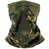 MengPa Neck Gaiter Balaclava Bandana Headwear Ice Silk Face Cover Headband for Women Men