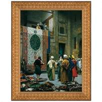 Design Toscano The Carpet Merchant, 1887: Canvas Replica Painting: Grande