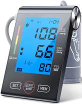 Upper Arm Blood Pressure Monitor,Automatic Digital BP Machine & Pulse Rate Monitoring with Large LCD Backlight,2 Users Mode,Adjustable Cuff