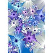 Diamond Painting Kits for Adults Kids, 5D DIY Purple Flowers Diamond Art Accessories with Round Full Drill for Home Wall Decor - 11.8×15.7Inches