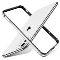 """ESR Bumper Case Compatible for iPhone 11/iPhone XR, Metal Frame Armor with Soft Inner Bumper [Zero Signal Interference] [Raised Edge Protection] for iPhone 11/XR 6.1""""(2019), Silver"""