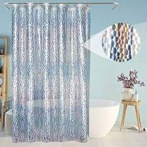 Eforcurtain Colorful 3D Water Cube Shower Curtain Liner Heavy Duty EVA, Eco-Friendly Bathroom Curtains Liner Waterproof with 3 Magnets, Small Size 48x72 Inch Semi-Clear Liners for Home
