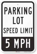 "SmartSign""Parking Lot Speed Limit 5 MPH"" Sign | 12"" x 18"" 3M High Intensity Grade Reflective Aluminum"