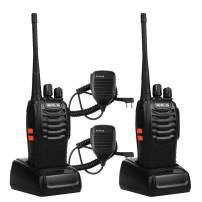 Retevis H-777 Walkie Talkies UHF Radio 16CH Single Band Flashlight 2 Way Radio Handheld Ham Radio Transceiver (2 Pack) with Speaker Mic (2 Pack)