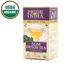 Pride Of India - Organic Slim & Detox (Senna Green) Tea, 25 Count (2-Pack)