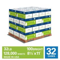 Hammermill Premium Color Copy 32lb Paper, 8.5x11, 32 Case Pallet, 8 Ream/Case,128,000 Sheets, Loading Dock Delivery, Made in USA, Sourced From American Family Tree Farms, 100 Bright, Acid Free,102630P