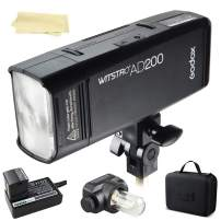 Godox AD200 200Ws 2.4G TTL 1/8000 HSS Strobe Flash Strobe Speedlite Monolight with 2900mAh Lithium Battery to Cover 500 Full Power Shots and Recycle in 0.01-2.1 Sec