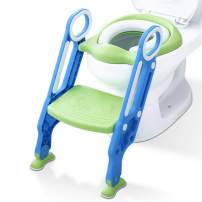 KingSo Children Potty Toilet Trainer Seat with Sturdy & Non-Slip Step Stool Ladder, Adjustable Toddler Toilet Seat for Boys and Girls