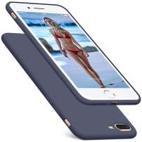 DTTO iPhone 8 Plus Case, iPhone 7 Plus Case, Silicone Case [Romance Series] Rubber Shock-Absorption Anti-Scratch Thin Slim Fit Cover for Apple iPhone 8 Plus 7 Plus 5.5 inches - Midnight Blue