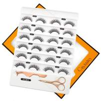 Faux Mink Lashes 3D Individual Faux Natural False Eyelashes 12 Pairs Bulk Handmade DUBAI QSR005