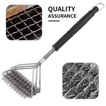 SamDeco Stainless Steel Grill Brush,Clean BBQ Brush for Grill,Barbecue Grill Brush with Bristles [Newest]