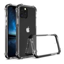"""SURPHY Clear Case Compatible for iPhone 11 Pro Case, Reinforced Corners Protective iPhone 11 Pro Case, TPU Bumper Hybrid Phone Case Compatible for iPhone 11 Pro 5.8"""" (Black)"""