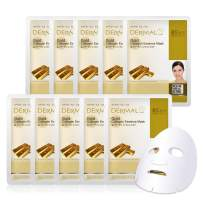 DERMAL Collagen Essence Facial Mask Sheet 23g Pack of 10 - A (Gold)