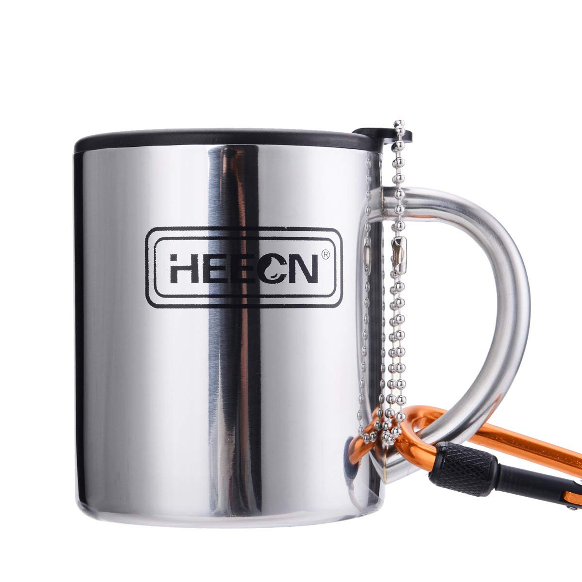 HEECN Camping Coffee Mug with Lid 220ml 300ml 450ml HESS038BBK