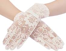 Bienvenu Women Non-slip Touchscreen Lace Gloves, Summer UV Protection Glove for Driving Wedding Parties