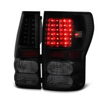 VIPMOTOZ Black Smoke LED Tail Light Housing Lamp Assembly For 2007-2013 Toyota Tundra Driver and Passenger Side Replacement Pair