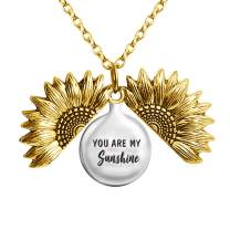 Apeso You are My Sunshine Sunflower Necklace for Women as a Gift