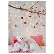 Funnytree Winter Christmas Headboard Photography Backdrop Glitter Star Bear Merry Xmas Background Brick Wall Bed Girl Baby Shower Birthday Portrait Party Decor Banner Photo Booth Studio Props 5x7ft