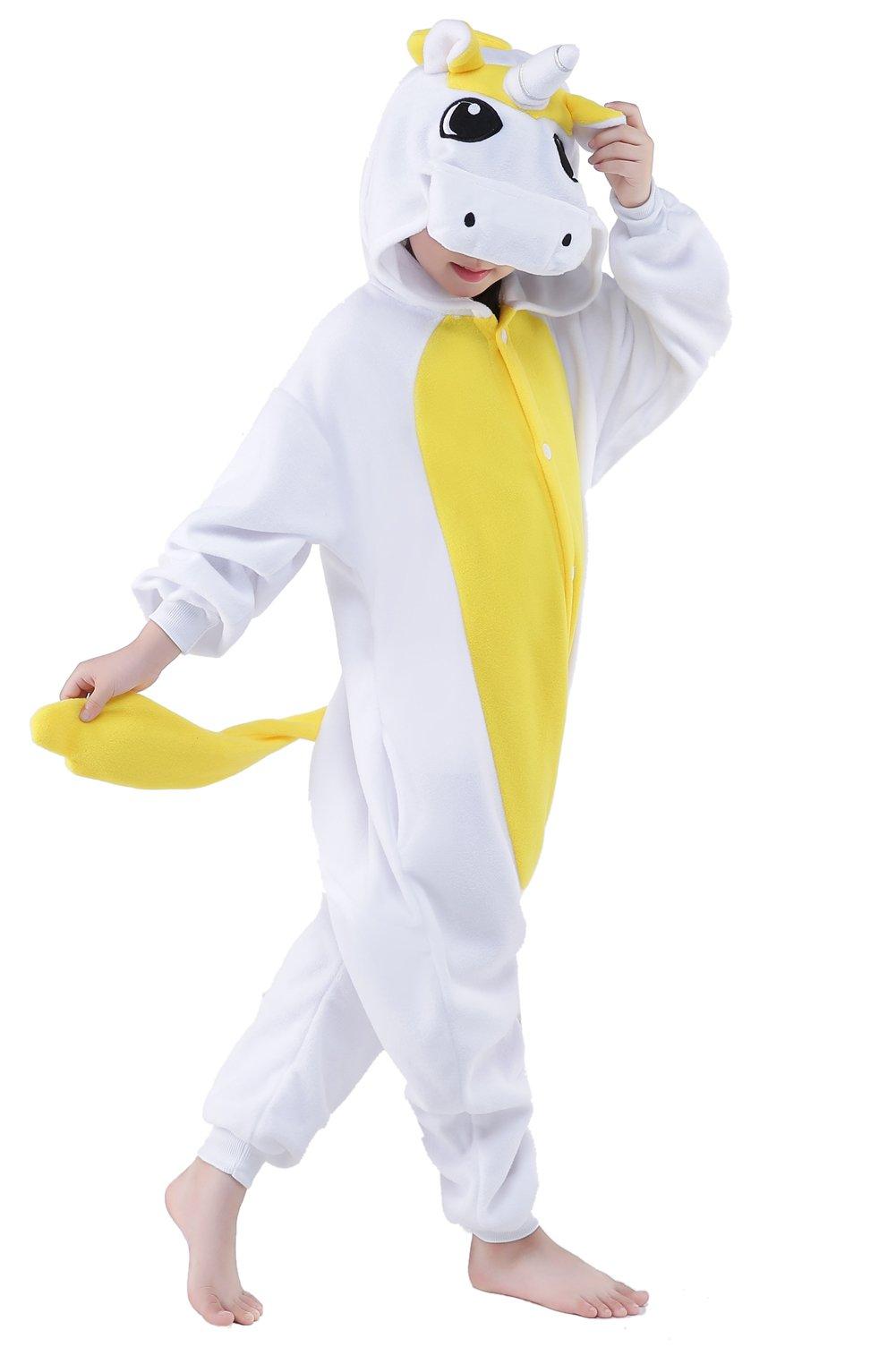 CANASOUR Kids Unicorn Onesie Animal Unisex Pajamas Children (4-10T)