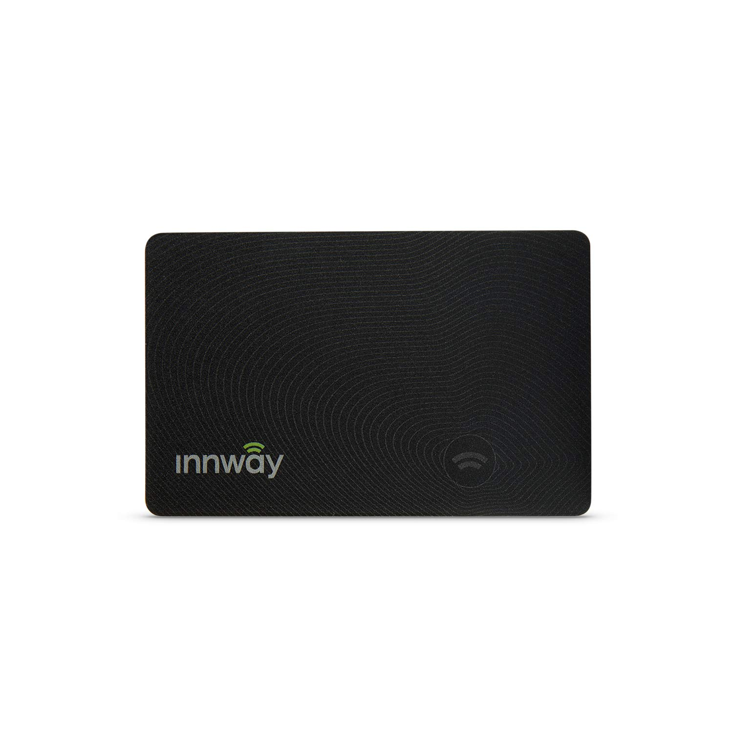 Innway Card - Ultra Thin Rechargeable Bluetooth Tracker Finder. Find Your Wallet, Bag, Backpack, Keys, Laptop, Tablet (Black)