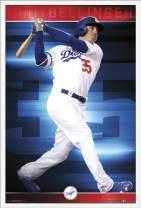"Trends International MLB Los Angeles Dodgers - Cody Bellinger, 22.375"" x 34"", White Framed Version"