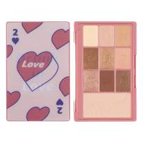 I'M MEME I'M Hidden Card Palette | Portable-sized 9 Colors Eyeshadow and 1 Blush Palette with Mirror | 002 Love | K-Beauty