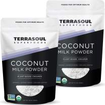 Terrasoul Superfoods Organic Coconut Milk Powder, 2 Lbs (2 Pack) - Plant-Based Creamer | Keto Friendly